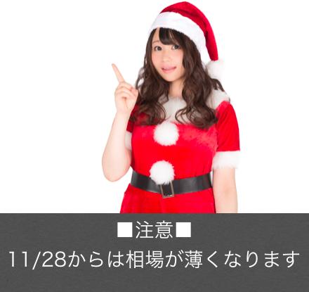 11/28からはクリスマス相場で注意が必要ですよ