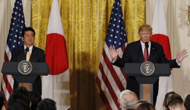 安倍首相とトランプ大統領の日米首脳会談